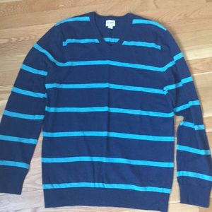 Old Mavy men's navy aqua cotton sweater large